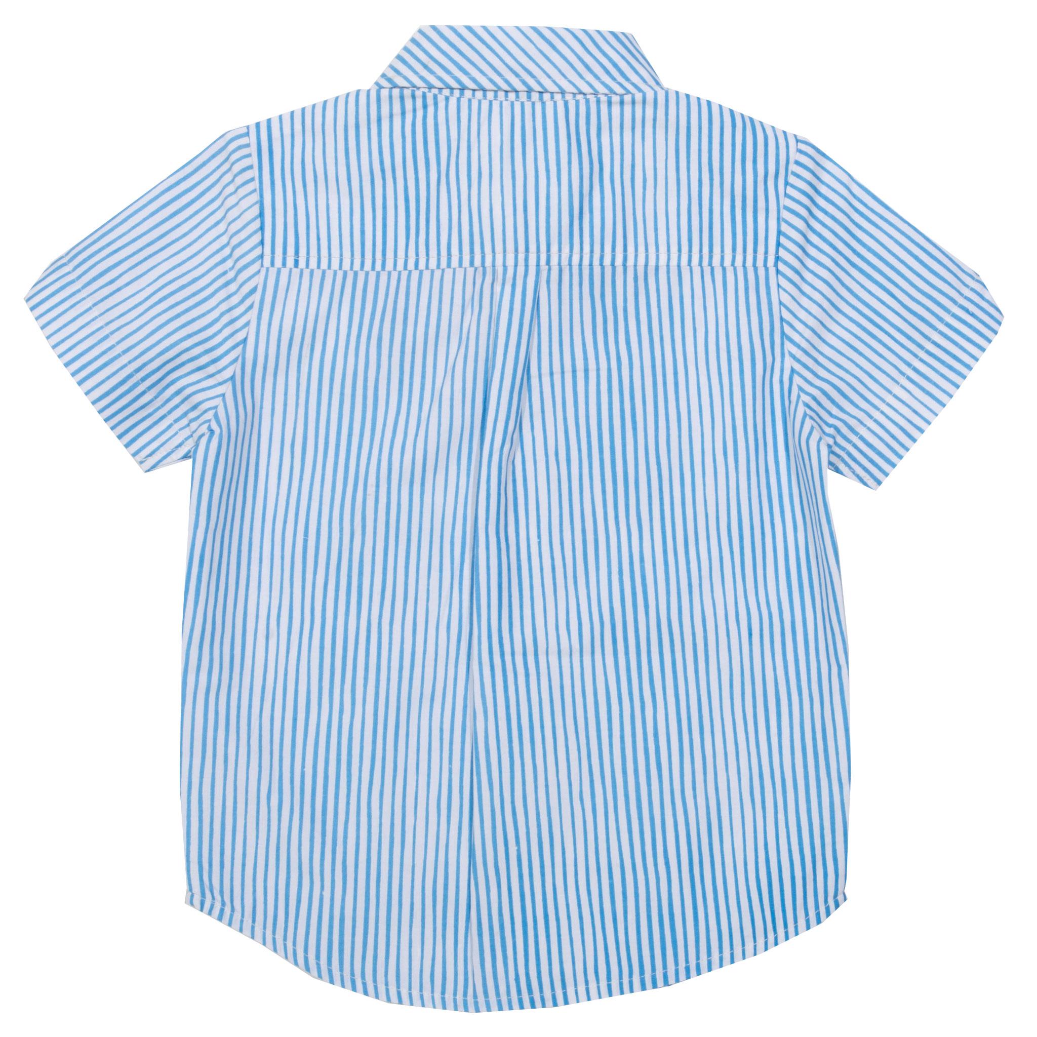 Hemd mit Knöpfen, gestreift, kurzarm