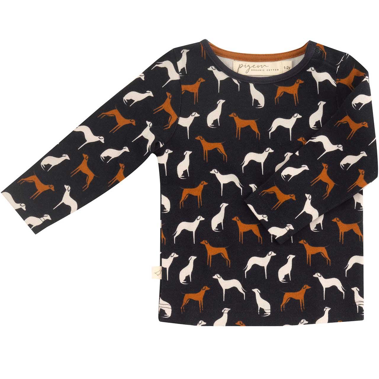 """Shirt """"Hunde"""", navy blau"""