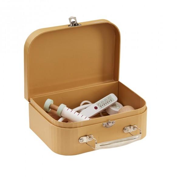 Arztkoffer mit Untensilien aus Holz