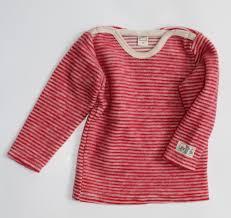 Pullover Wollftrottee, rot/natur geringelt Gr. 92