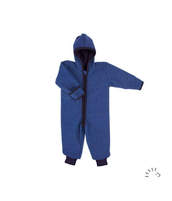 Wollwalk Overall, blau von popolini