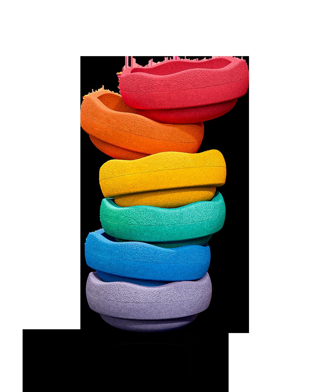 Stapelstein Rainbow basic 6 Stück