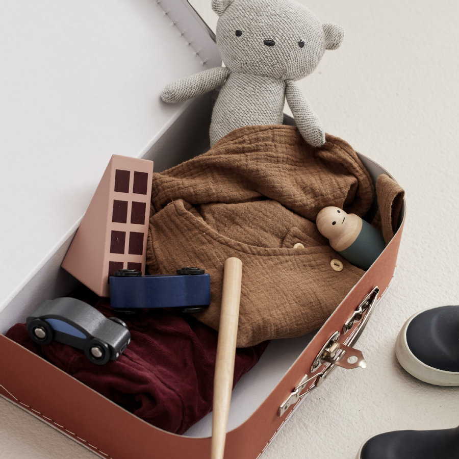 Koffer 2-er Set  aus stabilen Pappe, rostbraun