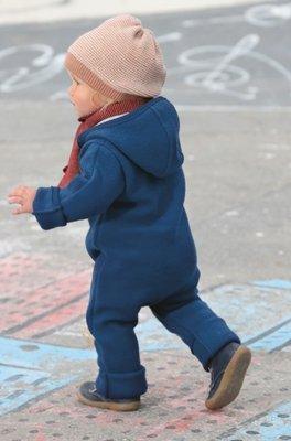 Wollwalk Overall, blau von disana