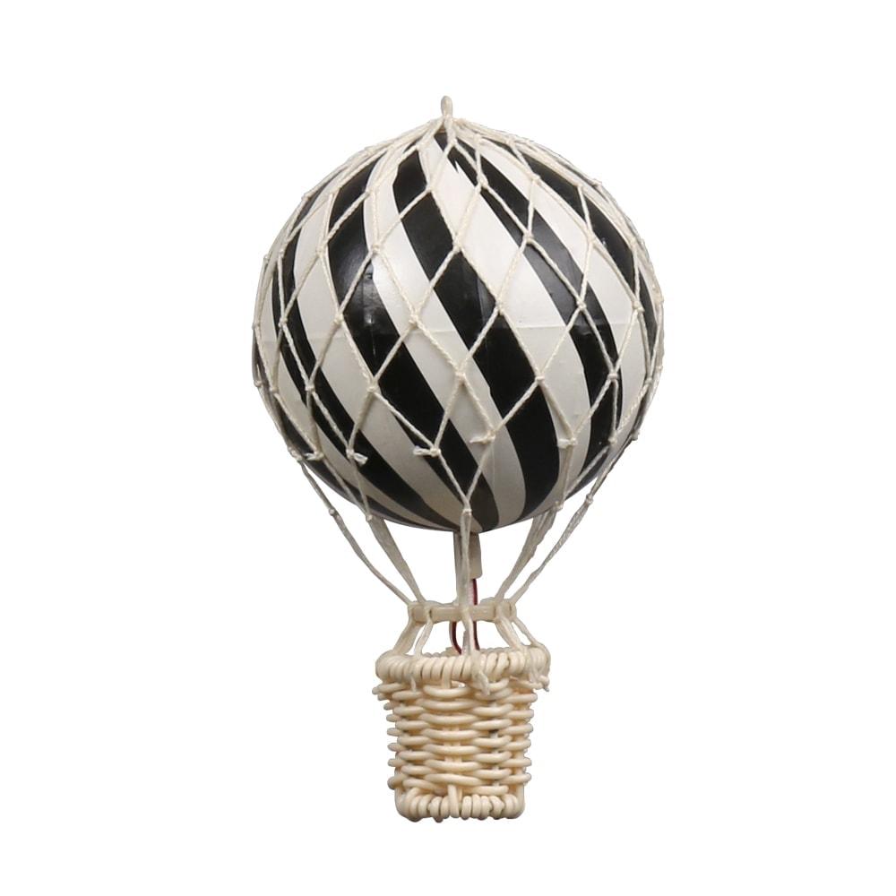 Heißluftballon, black, in zwei Größen