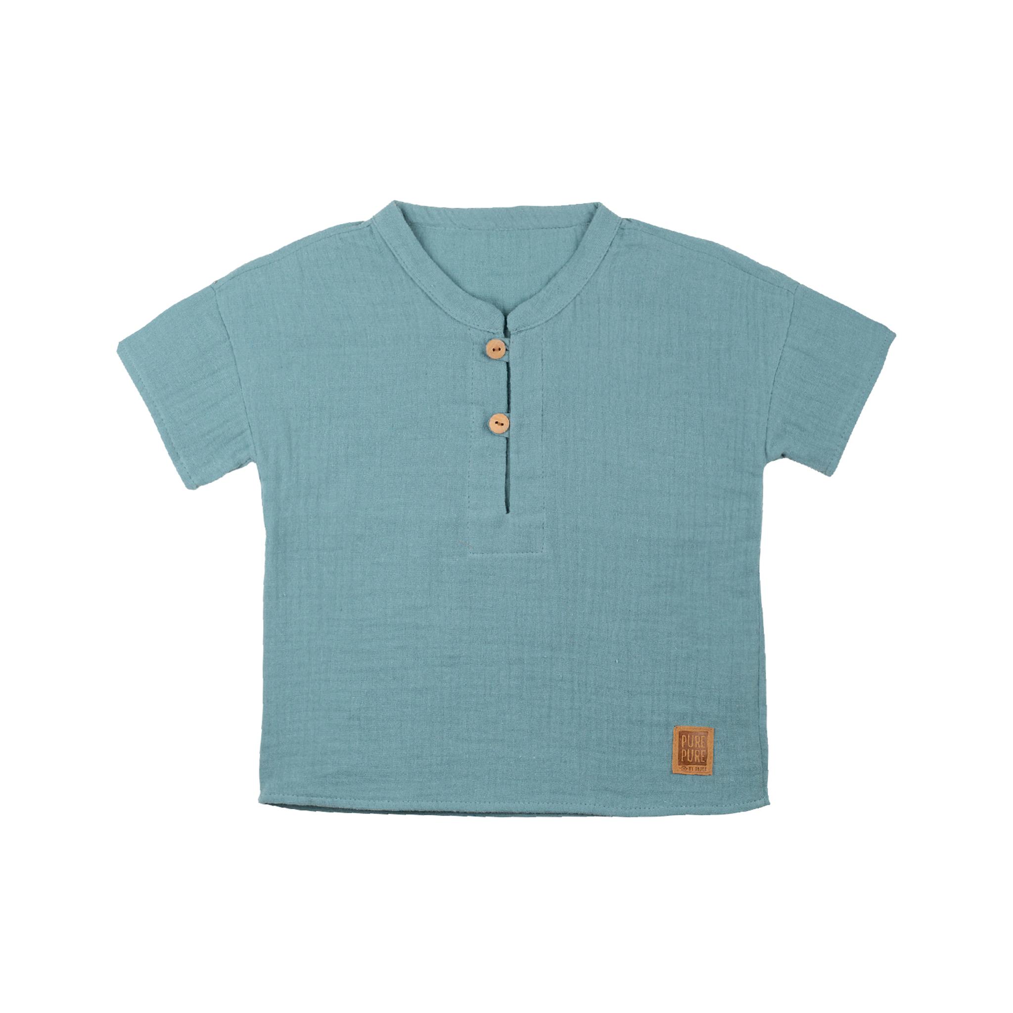 Mini-Shirt aus weichem Mull / PURE PURE