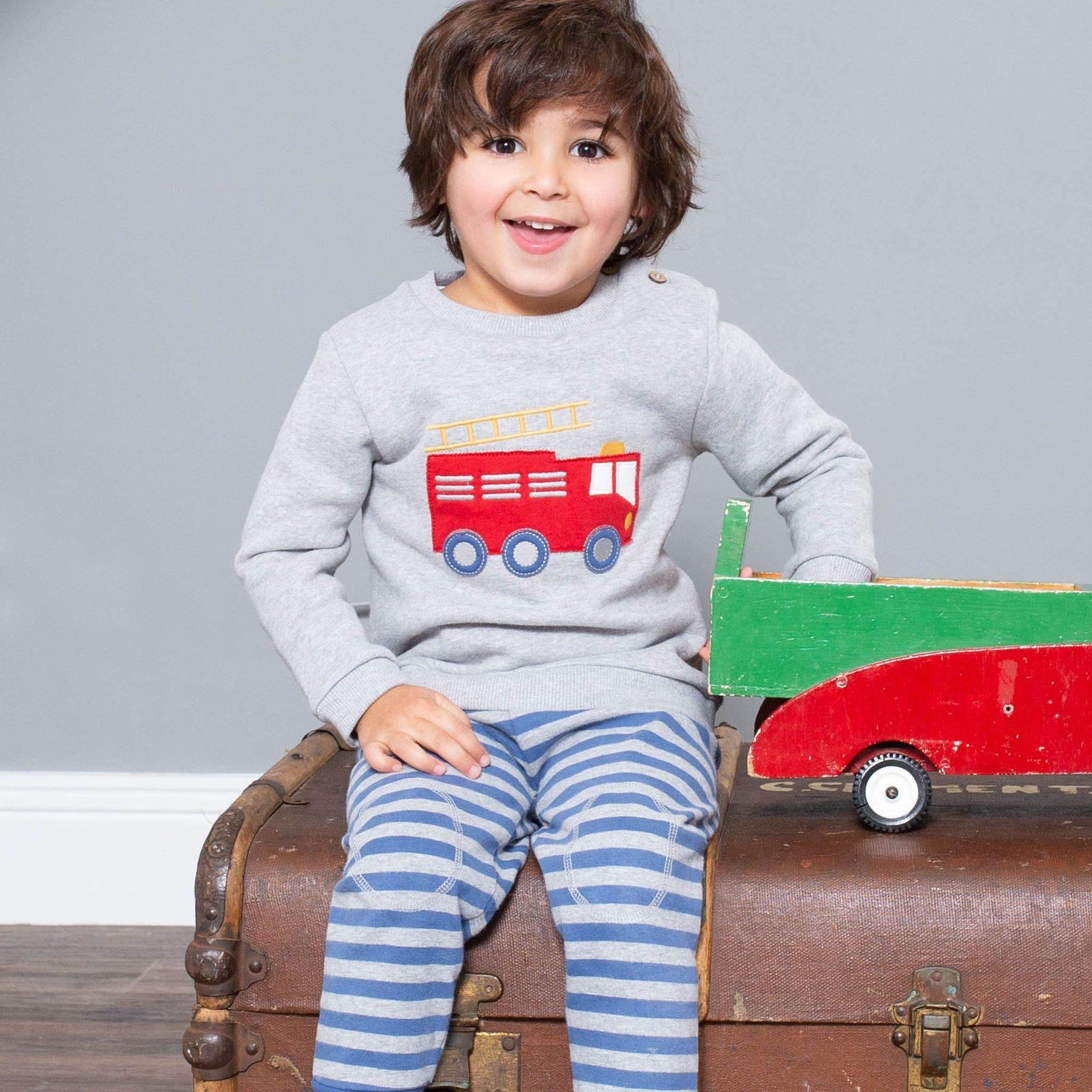 Sweatshirt, Feuerwehrauto, fleece
