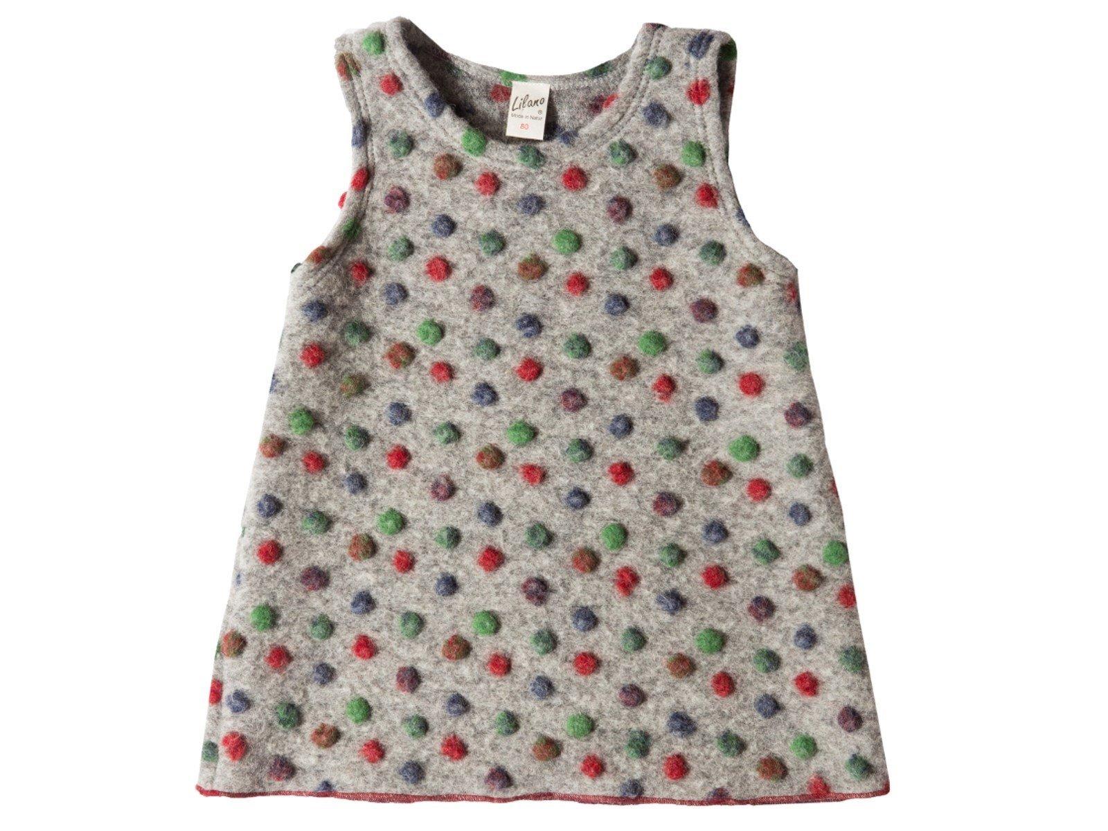 Wollfilz Kleid mit bunten Punkten von Lilano