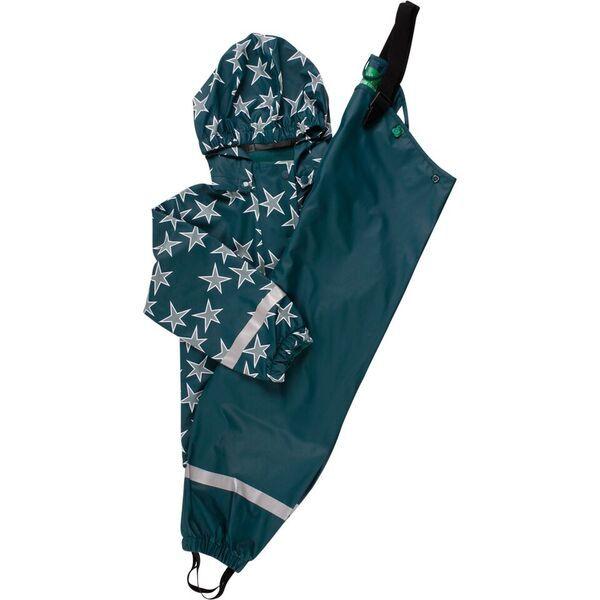 Regenjacke und Matschhose in grün mit Sternen, Freds World