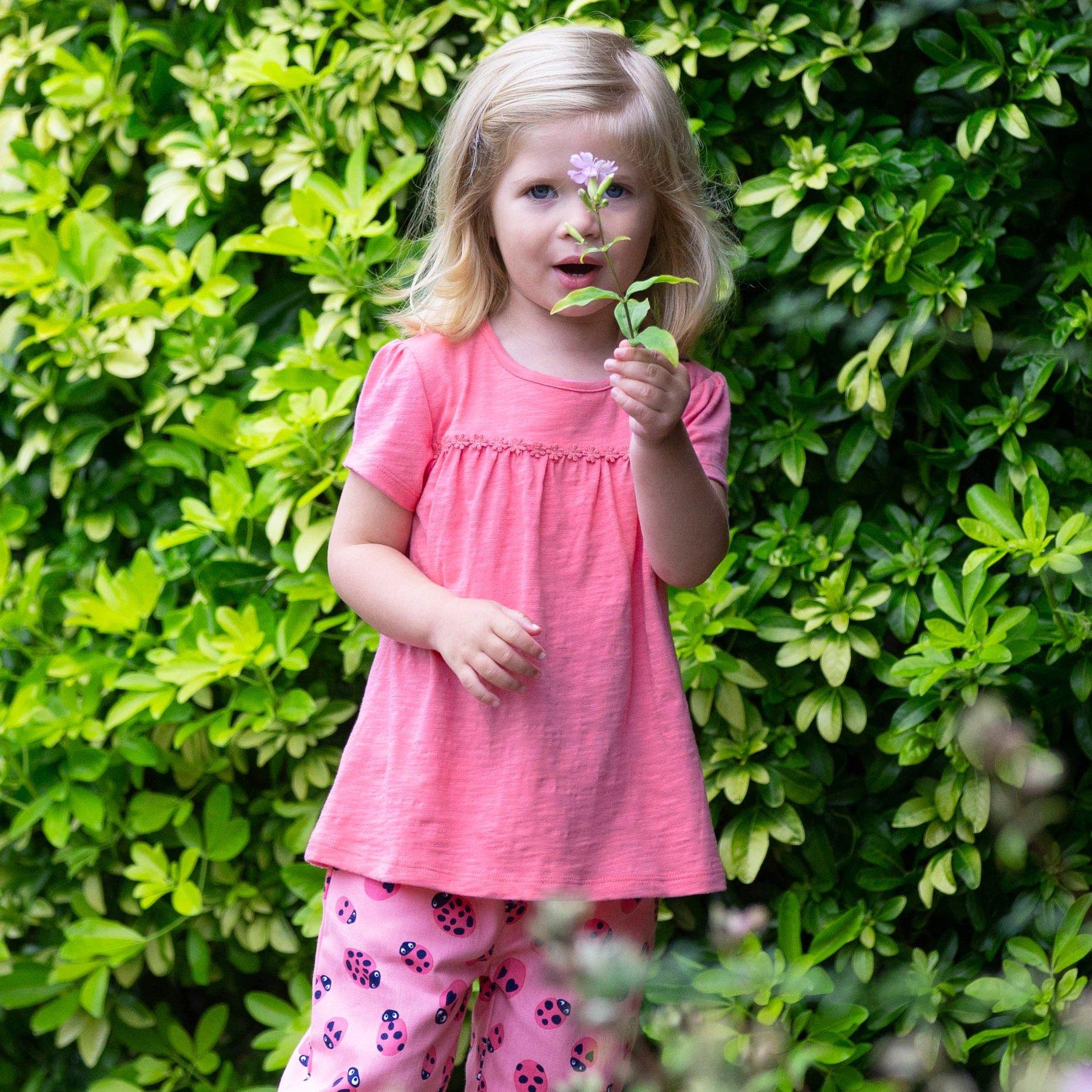 Tunika aus leichter Bio-Baumwolle, pink