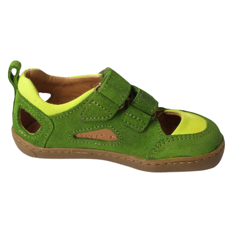 Barfuß - Sandalen, Kammolch, Bioleder, apfelgrün