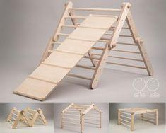 Kletter- Dreieck mit Rutsche/Hühnerleiter
