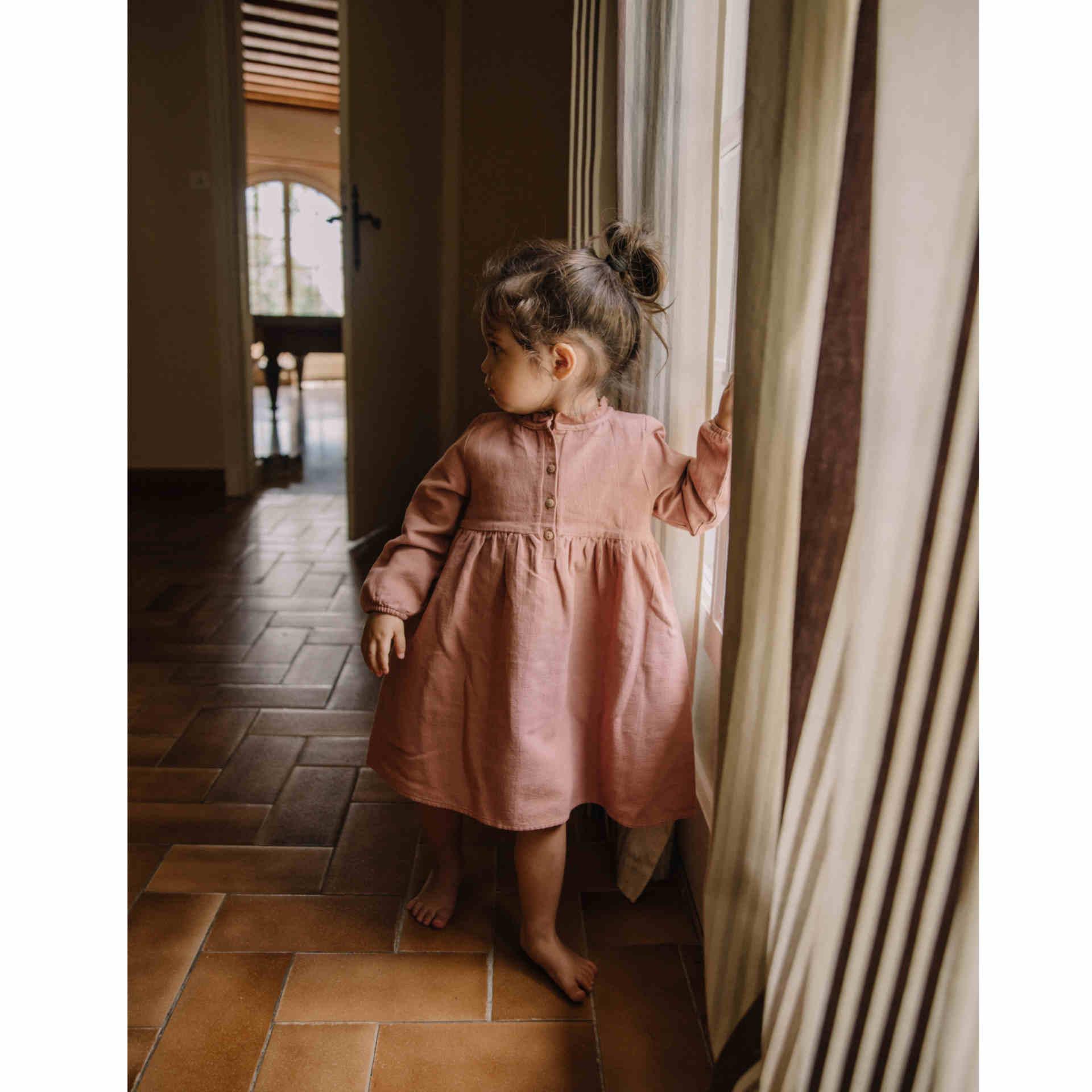 Kleid in schönem altrosa von Studio Boheme Paris