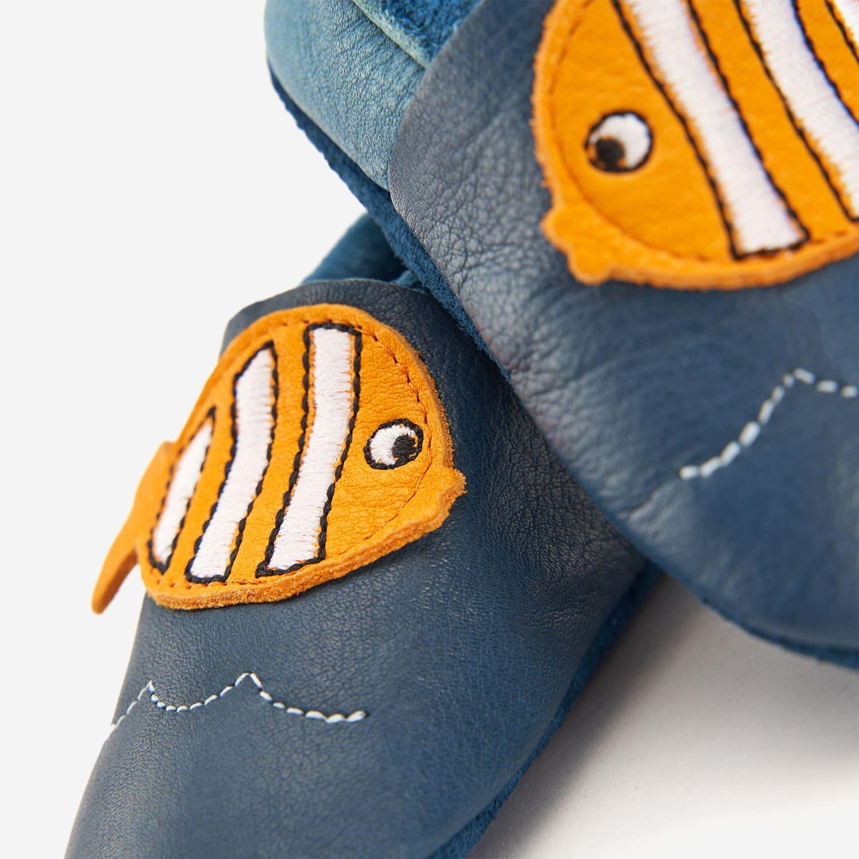 Lederhausschuhe Fisch
