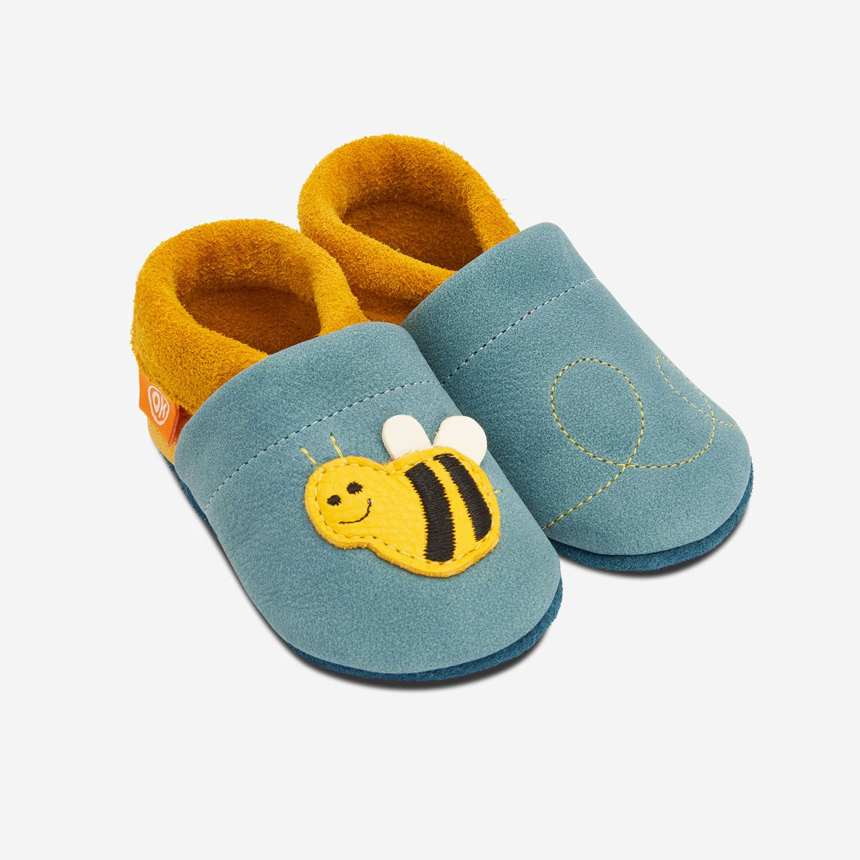 Lederhausschuhe Biene