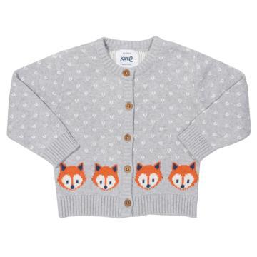 Strick-Cardigan Fuchs für Mädchen und Jungs