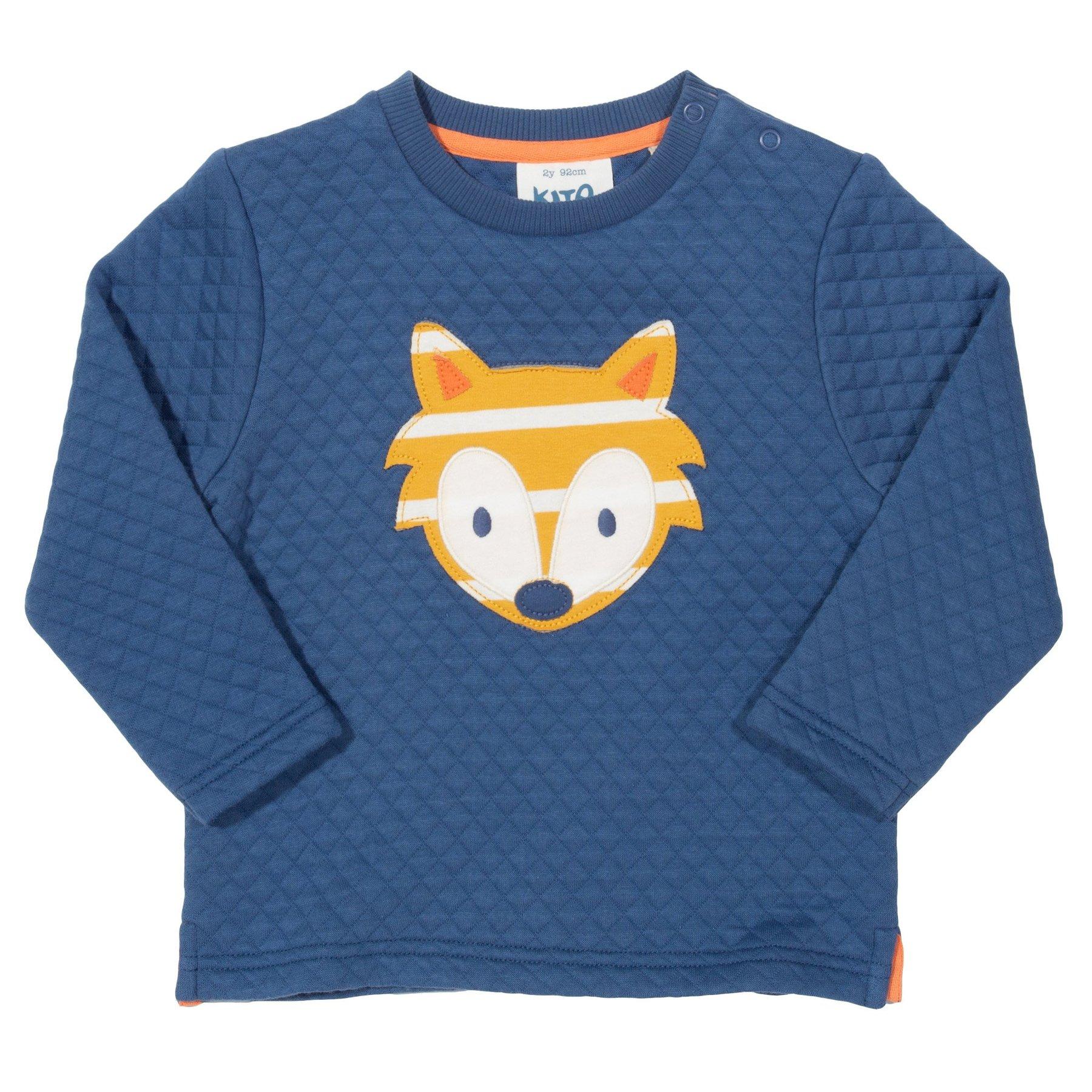Sweatshirt, gesteppt, Fuchs